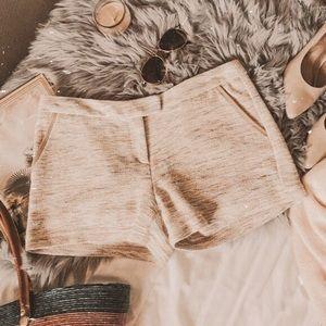Joié Arroyo Tweed Faux leather cream trim Shorts